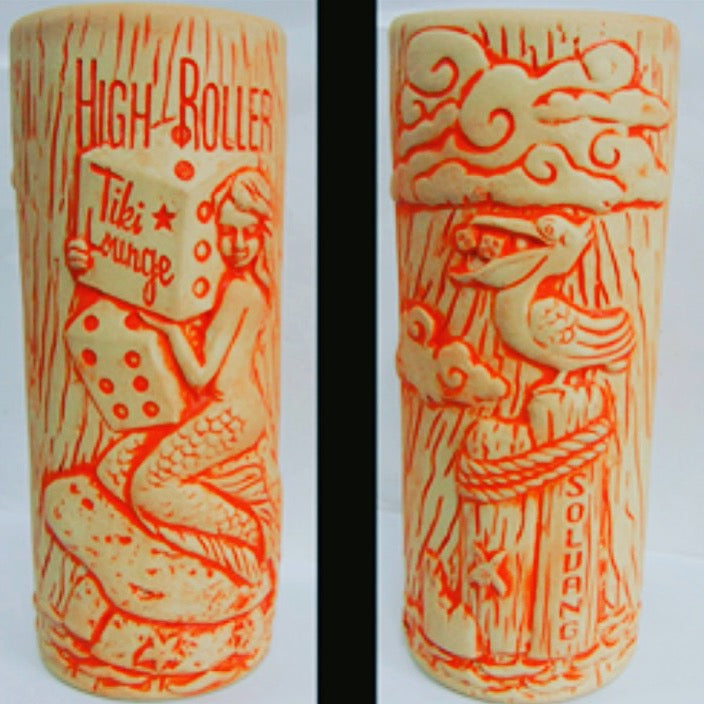High Roller Tiki Lounge Mermaid Mug (tangerine 2nd edition)