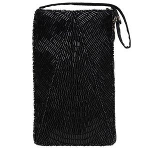 Black Beaded Crossbody Bag