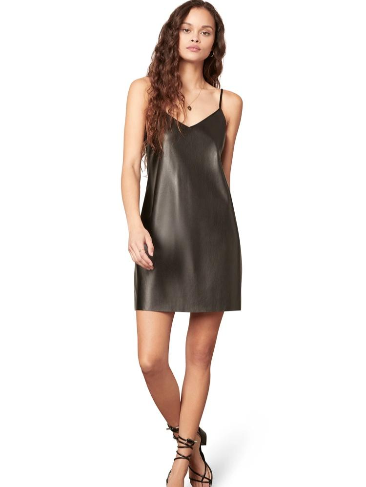 Faux Leather Slip Dress