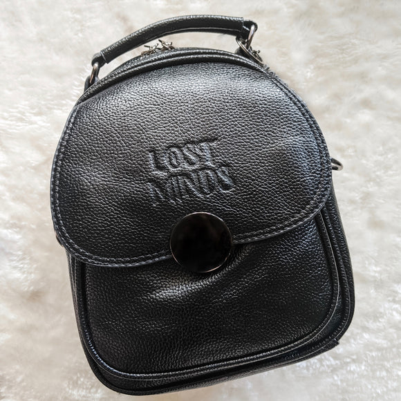 Lost Minds Mini Convertible Handbag/Backpack - Black