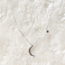 Load image into Gallery viewer, Sterling Silver Moon & Star Choker