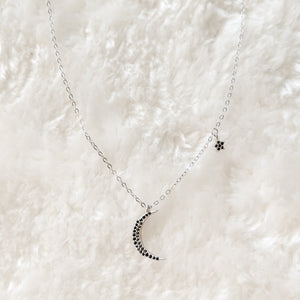Sterling Silver Moon & Star Choker