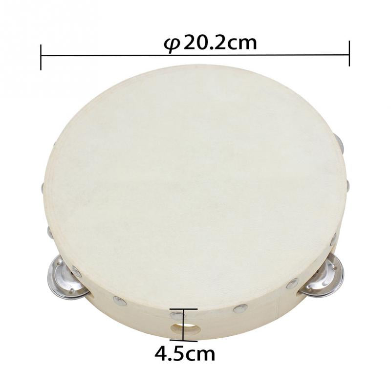 "8"" Tambourine Drum Sheepskin - HADDAD BEATS"