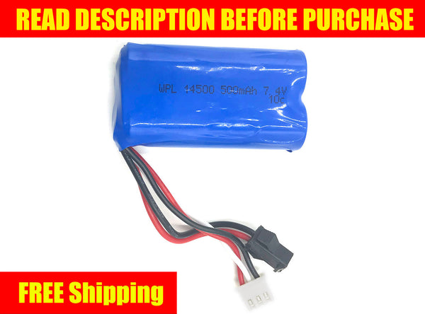 2S 7.4V 10C Li-Ion Battery - for D12 - WPL RC Official Store