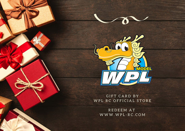 WPL RC Official Gift Card - WPL RC Official Store