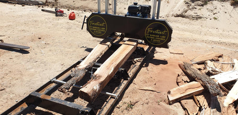 "Forestwest 32"" Sawmill tested with red gum"