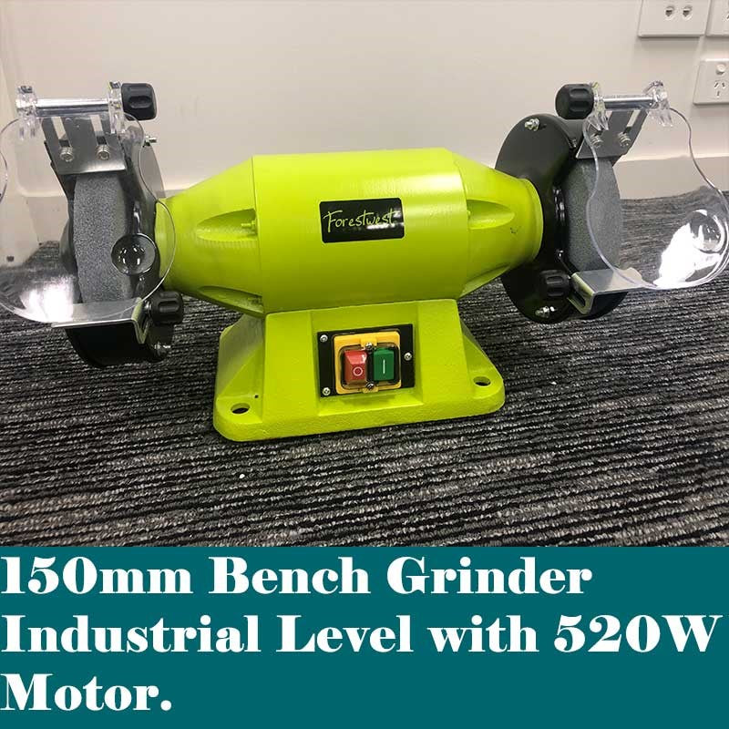 150mm 520W Industrial Bench Grinder - Forestwest