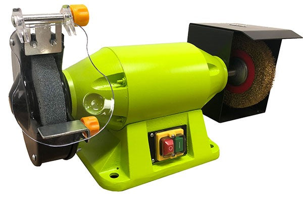 150mm Industrial Bench Grinder with Wire Wheel 520W | Bench Grinders & Linishers Forestwest