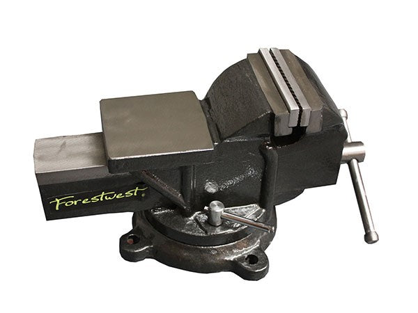 "4"" Bench Vice with Swivel Base & Anvil - Forestwest"