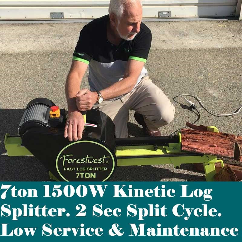7ton Log Splitter, Kinetic Log Splitter Fast Split - Forestwest