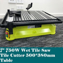 "7"" Wet Tile Saw 500*380mm Table 