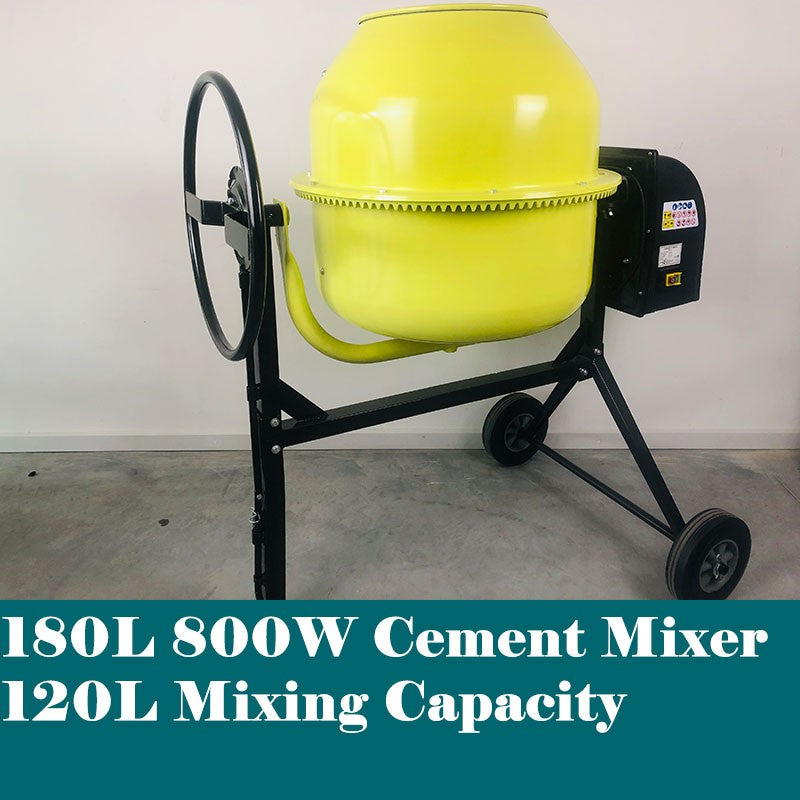 180L Portable Electric Cement Mixer - Forestwest