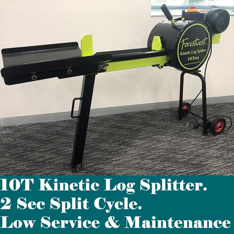 10ton Kinetic Log Splitter on Stand Upgraded 1800W | Kinetic Log Splitter Forestwest