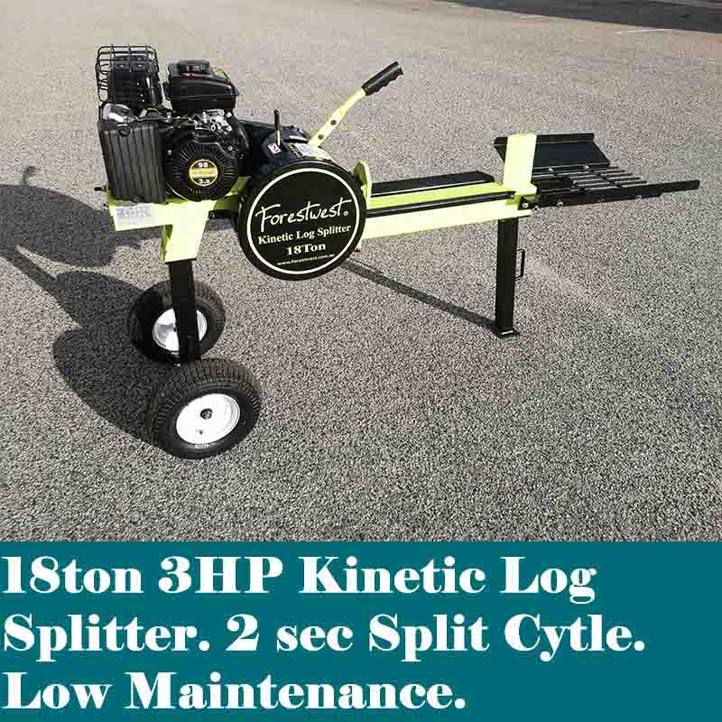 18ton Kinetic Log Splitter 3hp Petrol Upgraded Version | Kinetic Log Splitter Forestwest