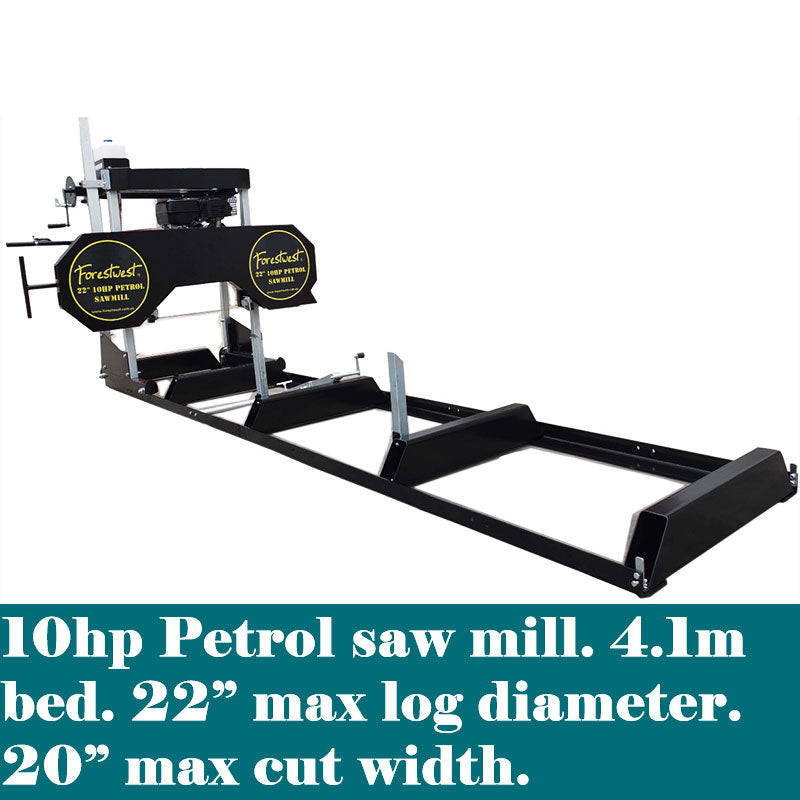 "22"" Wood Sawmill 10hp Petrol Engine - Forestwest"