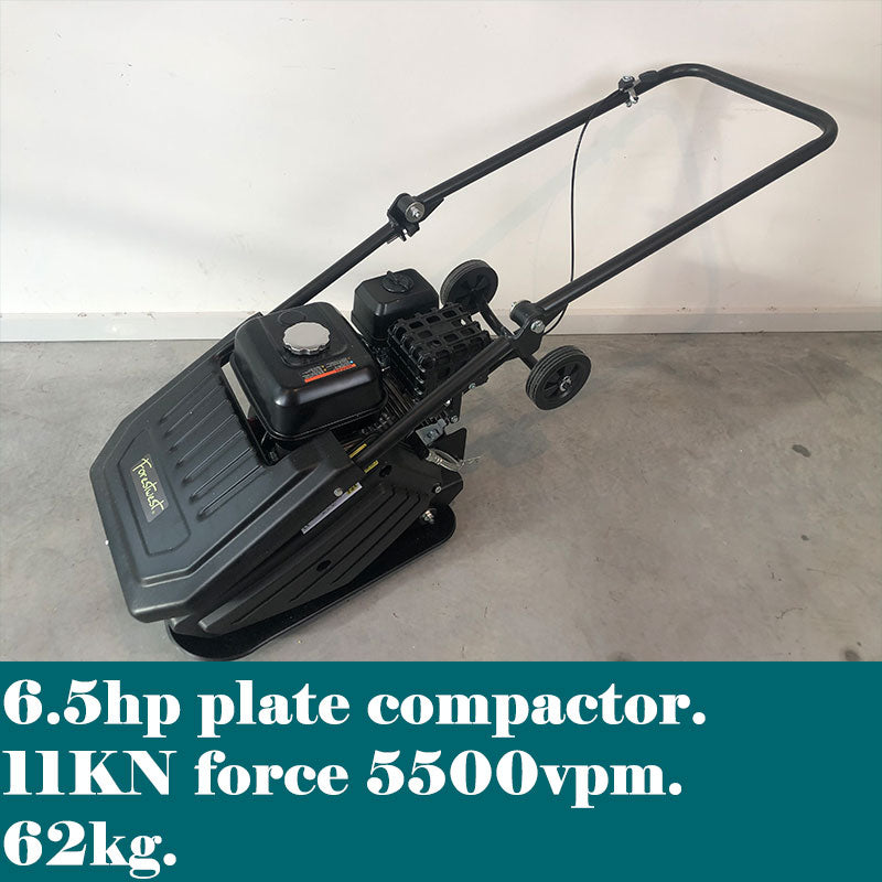 62kg Plate Compactor 6.5hp 11KN Compactor with Wheels | compactor Forestwest