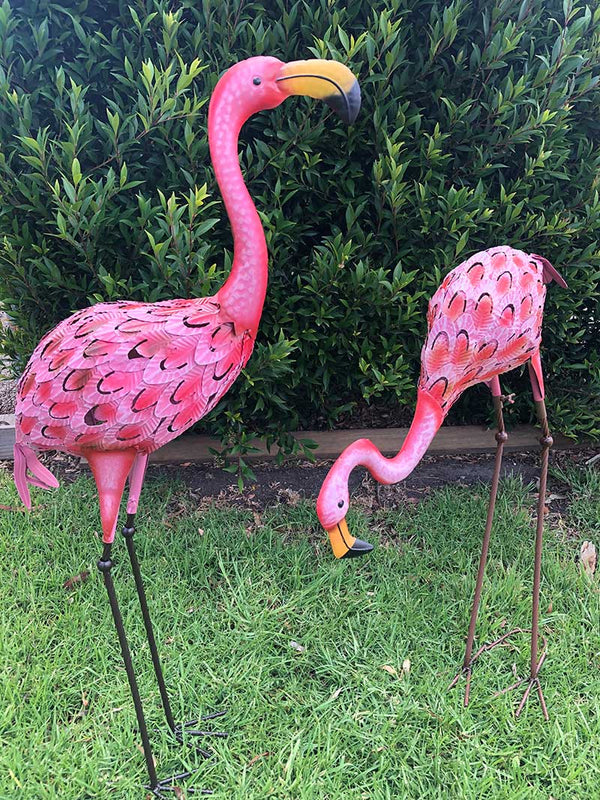 Home Garden Metal Decor Flamingo Bird | Garden Art Decor Forestwest