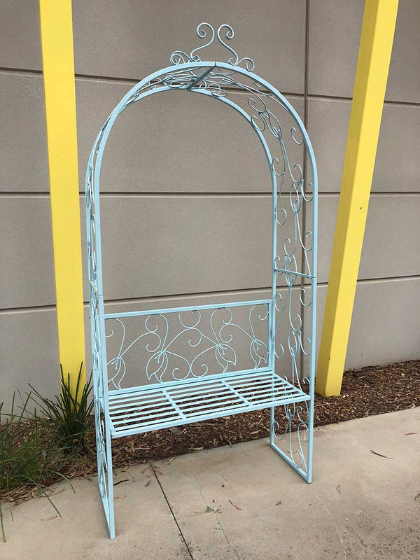 Garden Arch Plant Climb Trellis with Chair - Forestwest