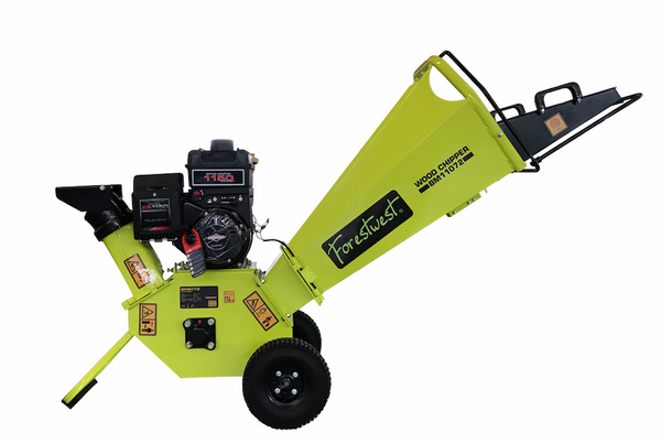 Commercial Grade 100mm Wood Chipper Shredder 250cc Briggs&Stratton Engine - Forestwest