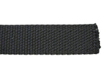 "1"" Black (310) Cotton Spun Poly Webbing (4-718)"