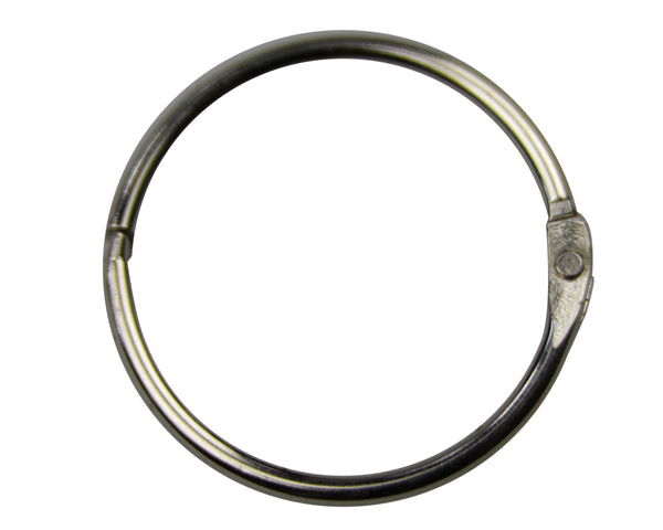 "Metal 1"" (25 x 4.5mm) Nickel Plated Open O-Ring (9-000OPEN)"