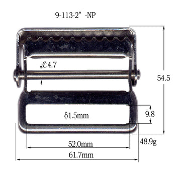 Metal Web Strap Buckle (9-113)