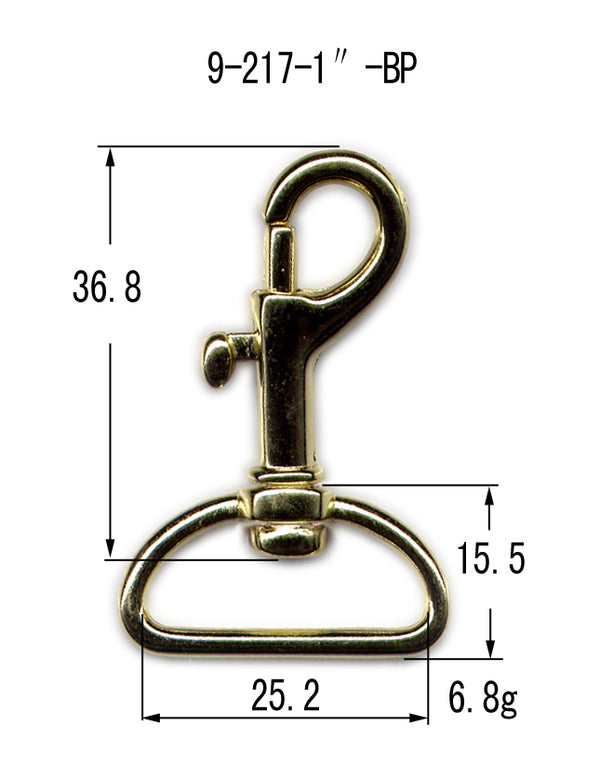 Metal Bolt Revolving Snap Hook (9-217)