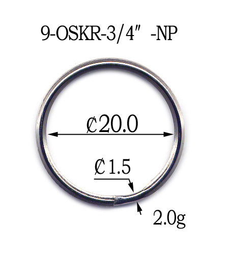 Metal Split Key Ring (9-0SKR)