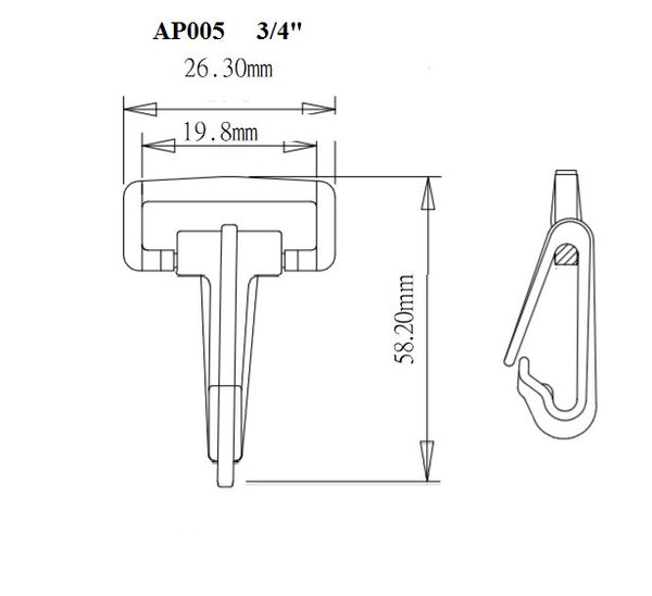 Plastic Locking Snap Hook (AP005)