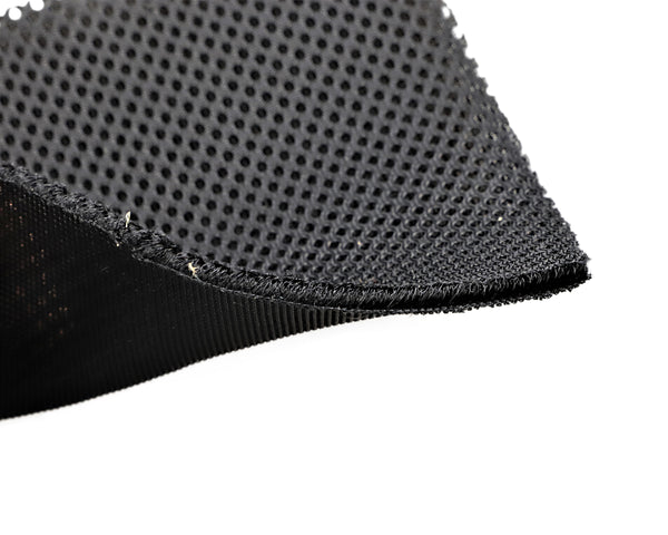 "54"" Wide TPU Laminated Black Polyester Mesh (108)"