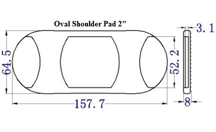 Plastic Oval Shoulder Pad (AP031)
