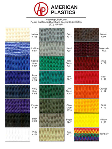 "1"" Black (310) Precut Polypropylene Heavyweight Webbing, Length 60"" (4-799)"