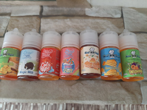 Nic salts 30 ml bottles different flavours