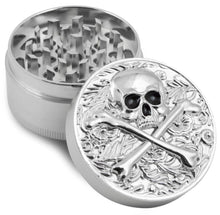 Load image into Gallery viewer, skull Zinc Herb / Spice Grinder BIG size and very durable.