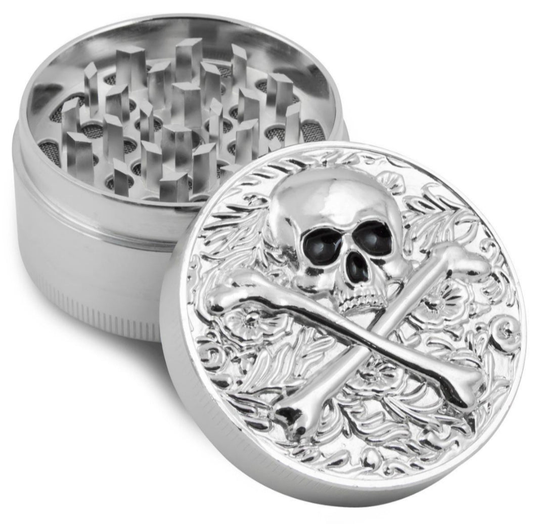 skull Zinc Herb / Spice Grinder BIG size and very durable.