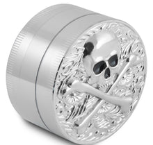 Load image into Gallery viewer, skull image Zinc Herb / Spice Grinder BIG size and very durable