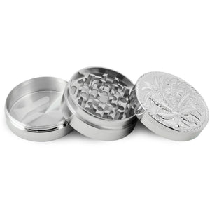 Leaves picture Zinc Herb / Spice Grinder BIG size and very durable.