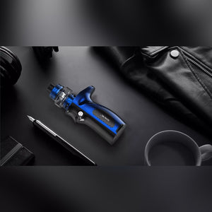 Blue colored Smok Mag Grip Kit in promo ad car