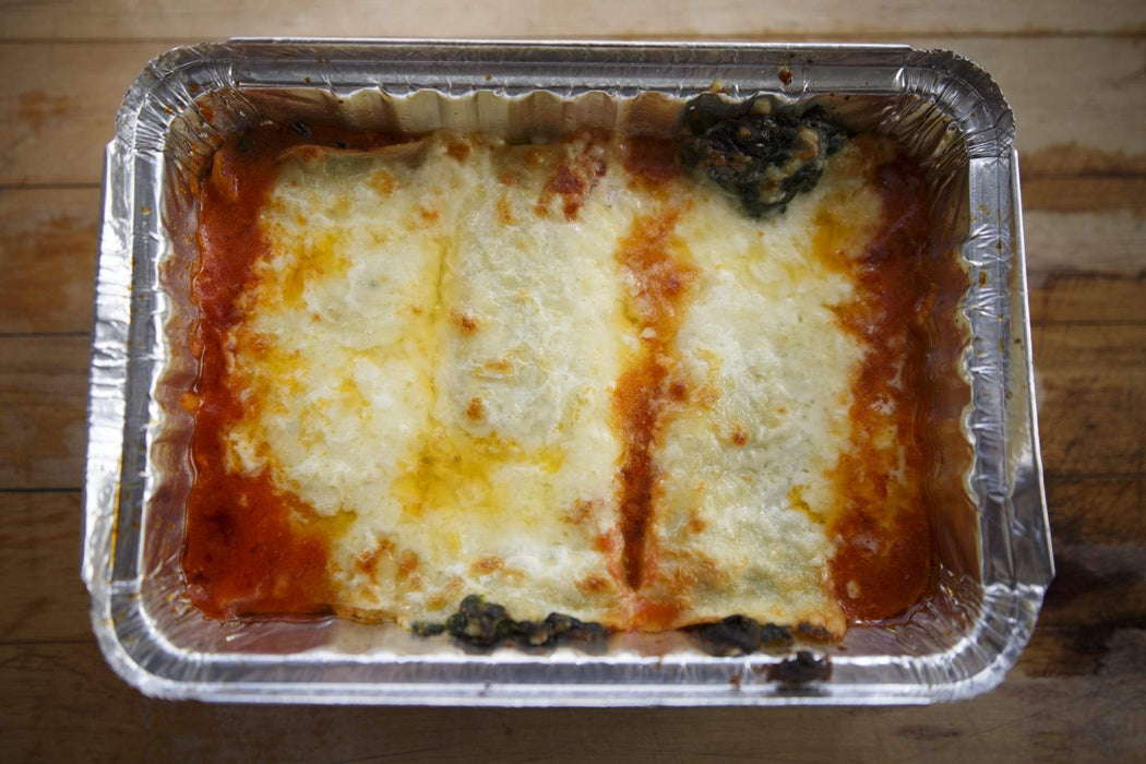 Swiss Chard and Ricotta Cannelloni
