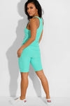 Shorso Women's Two-Piece Yoga Sports Vest Top and ¾ Length Shorts In Mint Green