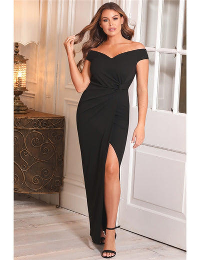 Jessica Wright Octy Black Off The Shoulder Dress