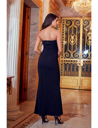 Shanna Black Bandeau Maxi Dress