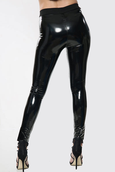 Wetlook PU High Waisted Leggings