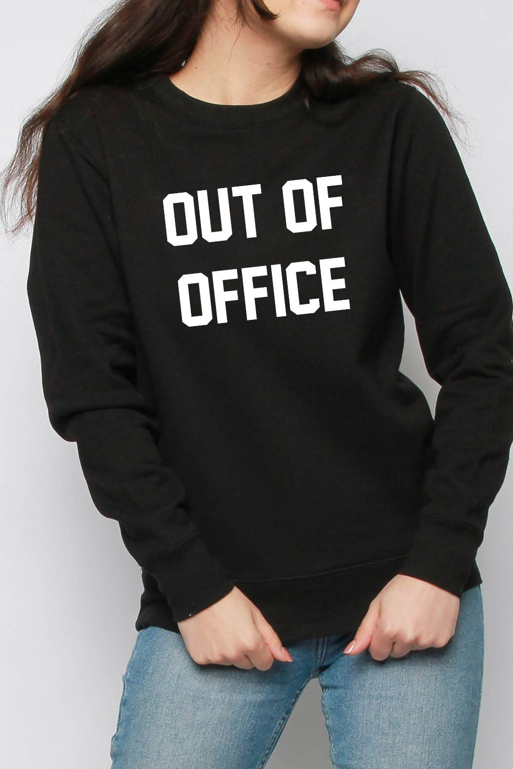 Out Of Office Slogan Oversized Sweatshirt