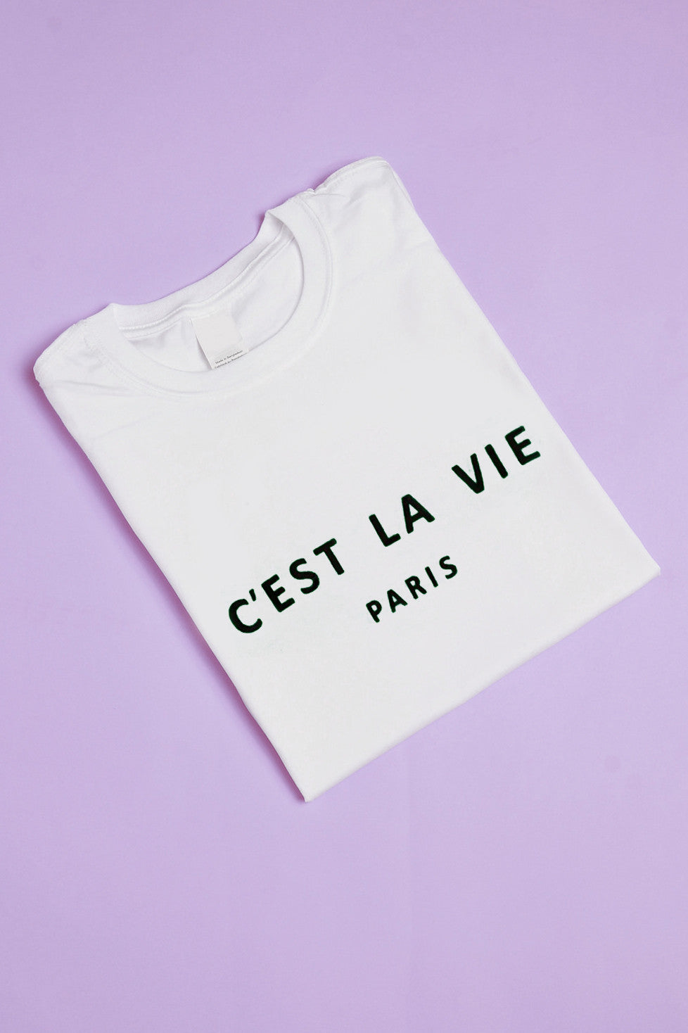 C'est La Vie Paris Slogan T-shirt in White