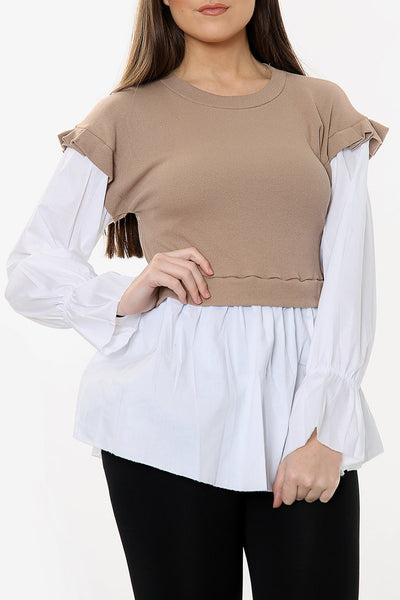 Long Sleeve 2 in 1 Shirt Jumper