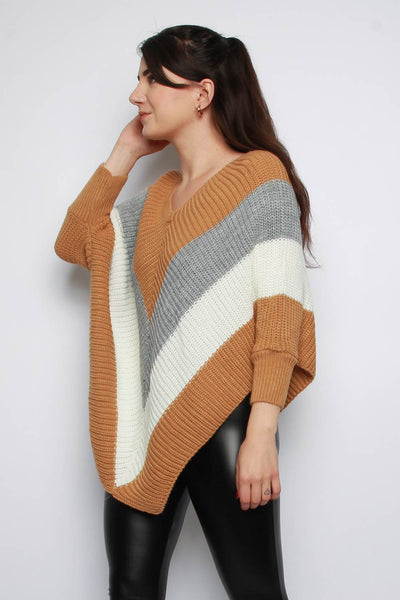 Stripe V-neck Jumper