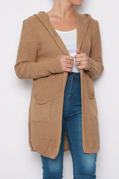 Hooded Knitted Cardigan