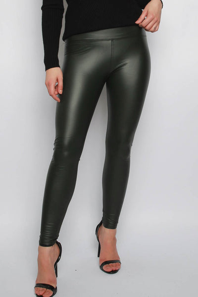 PU Wet Look Leggings
