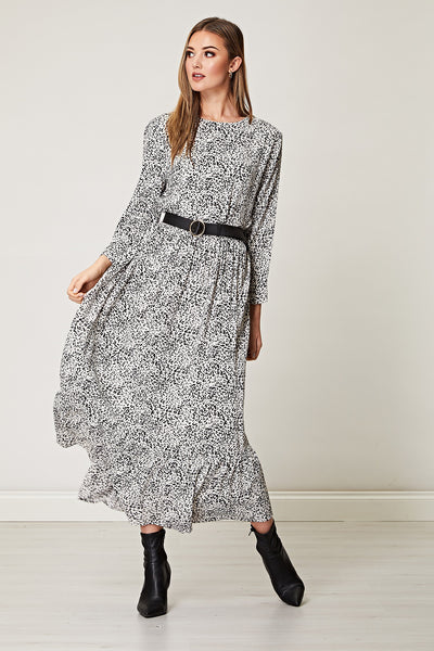 Leopard Print Tunic Maxi Smock Dress
